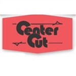 Little Grabbers Center Cut Day Glo Red Label - 1.38 in. x 0.87 in.