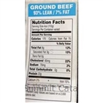 Ground Beef 93 Percent Lean / 7 Percent Fat Ocean Blue - 1.5 in. X 3.0 in.