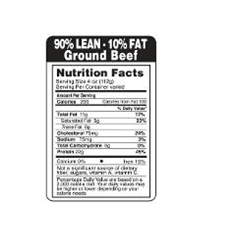 Ground Beef 90 Percent Lean And 10 Percent Fat Black Label