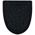 P-Shield Urinal Mat Rubber Black - 22.25 in. x 22.63 in. x 0.19 in.