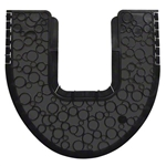 Fresh P-Shield Black Commode Mat - 20.25 in. x 17.5 in. x 0.13 in.