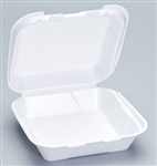 Snap-IT Hinged Container Medium White 1 Compartment - 8 in. x 8 in. x 3 in.