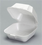 Large Sandwich Foam Hinged Container - 5.75 in. x 5.75 in. x 3.25 in.