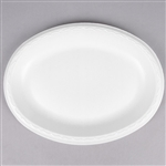 Elite Large Laminated Oval Platter Foam - 8.5 in. x 11 in.