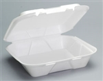 Large Snap It Foam Hinged Dinner Container - 9.25 in. x 9.25 in. x 3 in.