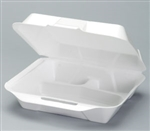 Jumbo 3 Compartment Foam Hinged Dinner Container - 10.25 in. x 9.25 in. x 3.25 in.