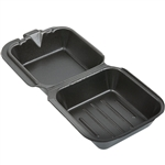Snap It Foam Hinged Sandwich Large Container Black - 5.81 in. x 5.69 in. x 3.13 in.