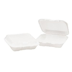 Snap-It 3 Compartment Container Hinged Foam White - 7.63 in. x 8. 44 in. x 2.38 in.