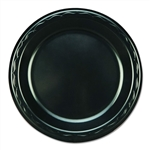 Elite Black Laminated Foam Plate - 7 in.