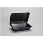 Deep All Purpose Foam Hinged Container Large Black - 9.19 in. x 6.5 in. x 3.06 in.