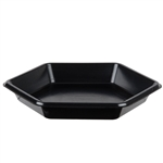Shallow Foam Hexagon Serving Tray - 9.15 in. x 1.38 in.