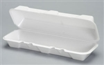 Extra Large Hoagie Foam Hinged Container White - 13.19 in. x 4.5 in. x 3.18 in.