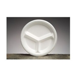 3 Compartment Celebrity Foam Plate Non-Laminated White - 10.25 in.