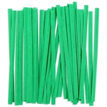 Twist-Ems Green Paper Twist Ties - 4 in. x 0.18 in.