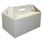 Turkey or Ham Handled C-Flute Carryout Box - 12 in. x 18 in. x 9 in.