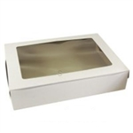 White Auto Lock Corner Cake Box With Window