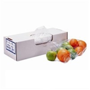 Clear Plastic Food Bag Poly Non-Vented - 4 in. x 2 in. x 12 in.