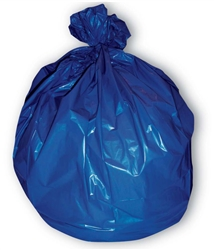 Blue Soiled Linen 14 Mil Can Liner - 31 in. x 43 in.