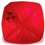 Infectious Waste Can Liner 14 Mic Red Printed - 33 in. x 40 in.