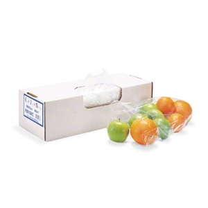 Regular Grade Clear Food Bag Flat Pack - 12 in. x 8 in. x 30 in.