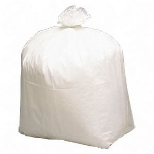 30 Gal. White LLDPE Extra Heavy Low Density Can Liner - 36 in. x 30 in.
