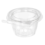 Safe-T-Fresh Tear Strip Lock Container with Shallow Lid - 8 oz.