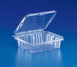 Tear Strip Deli Hinged Tub Clear - 48 oz.