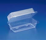 Plastic Clear Hinged Loaf and Pound Container - 8.5 in. x 4.44 in. x 3.5 in.