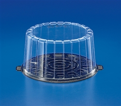 Black and Clear 2 Piece Pete Cake Set - 8.5 in. x 10.13 in. x 5.13 in.
