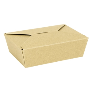 3 Food Container Chipboard Natural Kraft - 7.7 in. x 5.5 in. x 2.5 in.