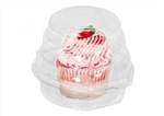 Single Serve Jumbo Cupcake Container w/ Swirl Dome - 5.25 in. x 4 in.