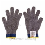 LN 10 High Performance Antimicrobial Cut Gloves Small Black and White