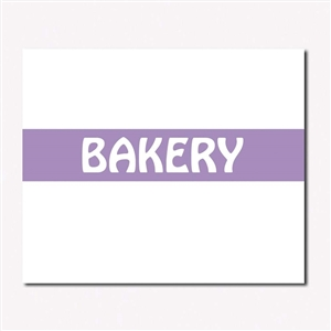 White and Purple Bakery Label - 19 mm x 10 mm
