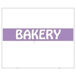 Bakery Label For Monarch Gun White with Purple Stripe - 0.75 in. x 0.63 in.