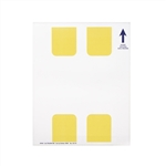 Beam Label Yellow Paper - 2 in. x 1.25 in.