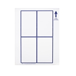 Hang Tag Small White Paper - 3 in. x 5 in.