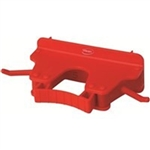 Vikan Wall Bracket Red - 3.15 in. x 6.15 in. x 2.35 in.