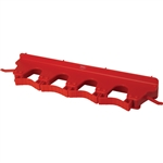 Vikan Wall Bracket Red - 3.15 in. x 15.5 in. x 2.5 in.