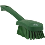 Vikan Short Handle Scrubbing Brush Green - 9.8 in.