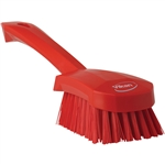 Poly Bristles Stiff Red Hand Brush - 3 in. x 10 in.