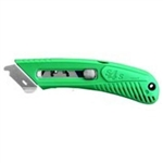 Right Hand Spring Back Green Safety Cutter
