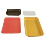 4D Tray Polystyrene Foam Black - 7.25 in. x 9.25 in. x 1.25 in.