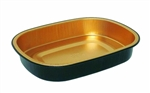Foil Container Black and Gold - 23.3 Oz.