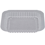 Thermoformed Plastic Dome Lid for 1 Lb. Oblong Aluminum Pan