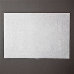 Embossed White Placemats - 10 in. x 14 in.