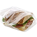 Sandwich Double Zipper Bag Clear - 6.5 in. x 6 in.