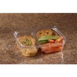 Clear Lid for Medium Clear 2 Compartment Snack Box