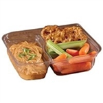 Medium Clear 2 Compartment Snack Box