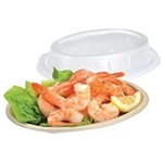 Clear Oval Lid for Pulp Burrito Bowls and Small Oval Pulp Plate