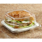 Molded Pulp Large Sandwich Container - 5.5 in. x 5.5 in.